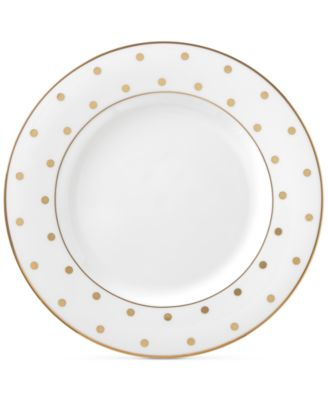 kate spade new york Larabee Road Gold Bone China Salad Plate