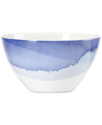 Lenox Indigo Watercolor Stripe Porcelain All-Purpose Bowl, A Macy's Exclusive Style