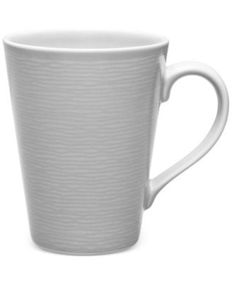 Noritake Gray On Gray Swirl Porcelain Mug