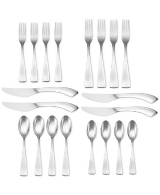 Oneida Curva 20 Pc Flatware Set, Service for 4