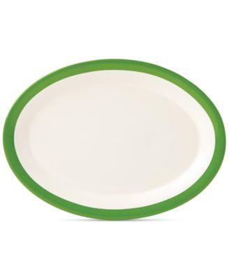 """kate spade new york all in good taste Striped 14"""" Serving Platter"""