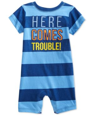 First Impressions Baby Boys' Here Comes Trouble Sunsuit, Only at Macy's