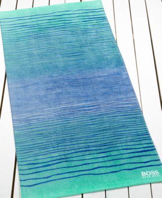 Hugo Boss Ombr® Stripe Beach Towel