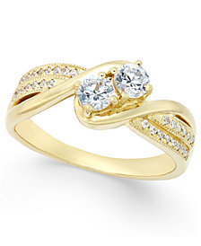 Two Souls, One Love® Diamond Anniversary Ring (1/2 ct. t.w.) in 14k Gold or White Gold