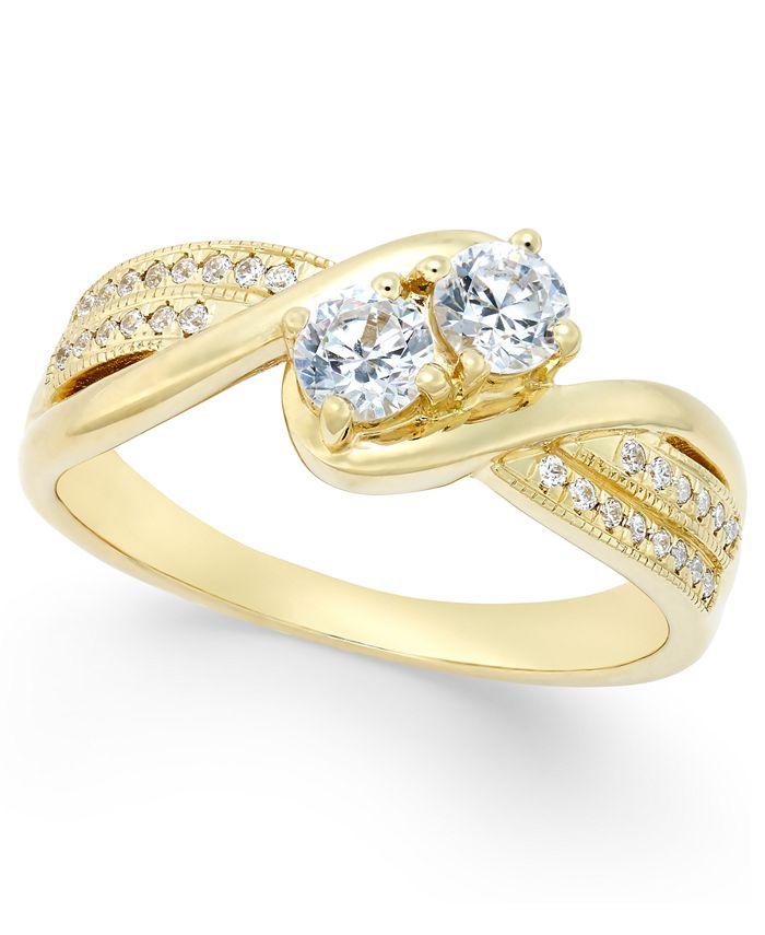 Macy's - Diamond Anniversary Ring (1/2 ct. t.w.) in 14k Gold