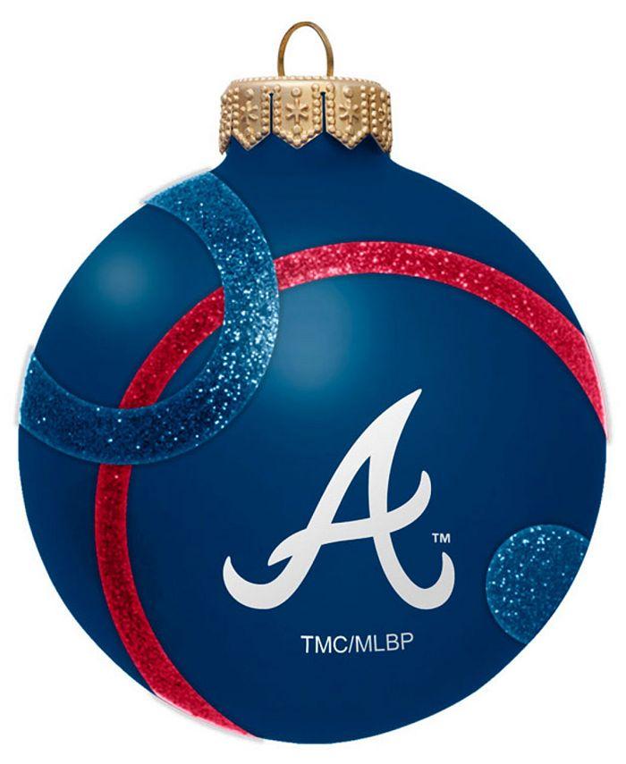Memory Company - Atlanta Braves Traditional Ball Circle Pattern Ornament