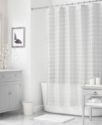 "Martha Stewart Collection 72"" x 72"" Woven Check Shower Curtain, Only at Macy's"