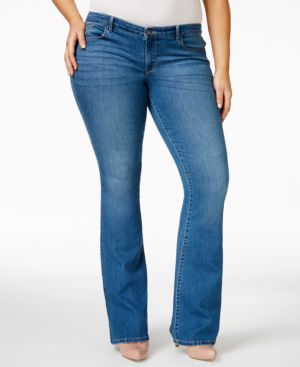 Style & Co. Plus Size Flare-Leg Bijou Wash Jeans, Only at Macy's