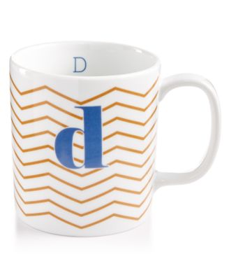 "The Cellar Chevron Initial Mug Collection ""D"" Mug, Only at Macy's"