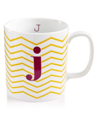 "The Cellar Chevron Initial Mug Collection ""J"" Mug, Only at Macy's"