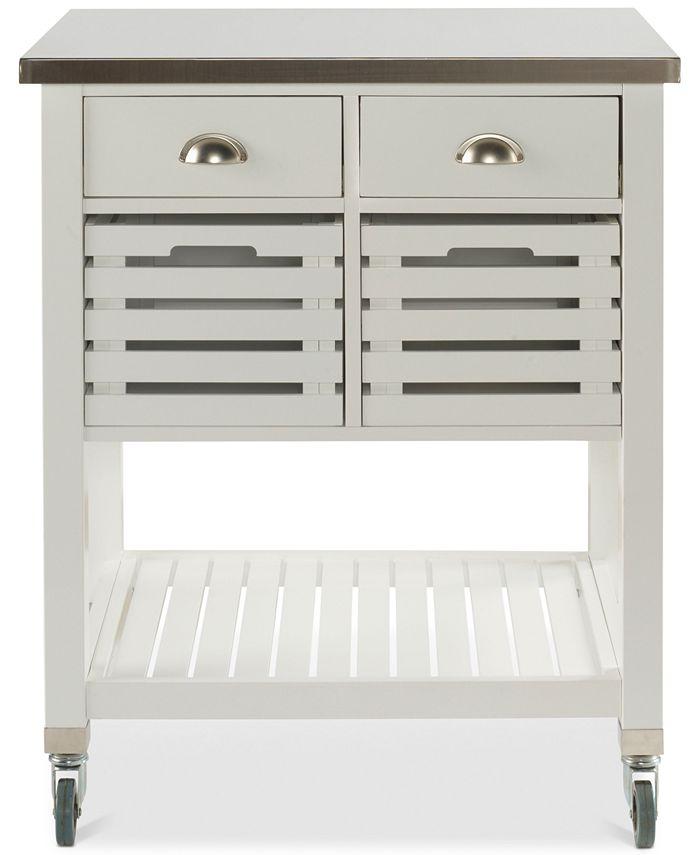 Linon Home Décor - Linon Farlee Kitchen Cart, Direct Ship