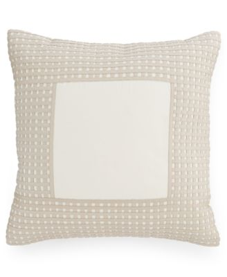 "Hotel Collection Modern Eyelet 16"" Square Decorative Pillow, Only at Macy's"