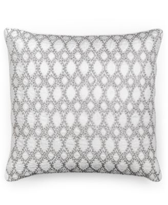 "Hotel Collection Finest Crescent Beaded 18"" Square Decorative Pillow, Only at Macy's"