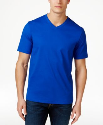 Image of Club Room Men's Cotton V-Neck T-Shirt, Only at Macy's
