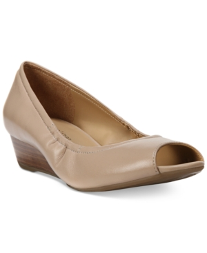 Naturalizer Contrast Peep Toe Wedges Women's Shoes
