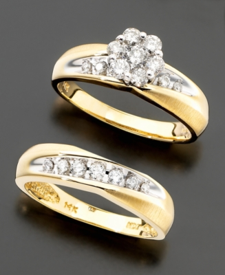 Women's Two-Tone 14k Gold Diamond 2-Piece Bridal Set (3/4 ct. t.w.)