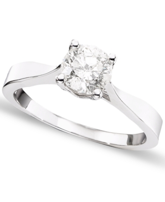 18k White Gold Macy's Star Round-Cut Diamond Ring (1 ct. t.w.)