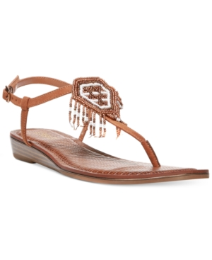Carlos By Carlos Santana Tonalea Slingback T-Strap Embellished Sandals Women's Shoes