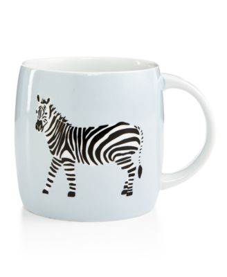Whim by Martha Stewart Collection Mugs Collection Zebra Mug, Only at Macy's