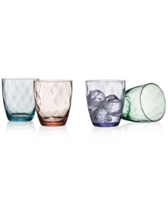 The Cellar Optic Color Collection 4-Pc. Double Old-Fashioned Glasses, Only at Macy's