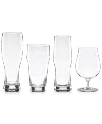 kate spade new york Larabee Dot Collection 4-Pc. Variety Beer Glasses Set