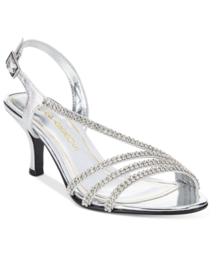 Caparros Bethany Embellished Asymmetrical Slingback Evening Sandals Women's Shoes