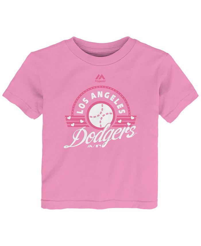 Majestic - Toddler Girls' Los Angeles Dodgers Baseball T-Shirt