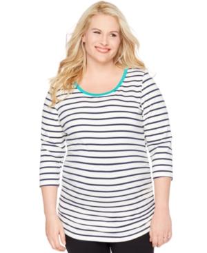 Motherhood Maternity Plus Size Striped Top plus size,  plus size fashion plus size appare