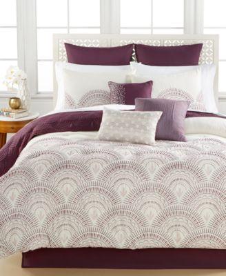 Reese Plum 10-Piece Queen Comforter Set