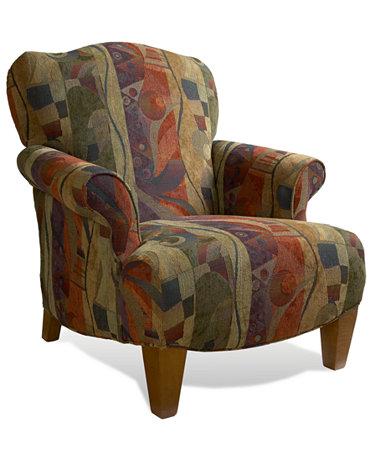 Inga Living Room Chair Press Back Furniture Macy 39 S
