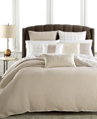 Hotel Collection Waffle Weave Full/Queen Duvet Cover, Only at Macy's