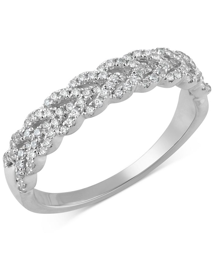 Macy's - Diamond Braid Band (1/3 ct. t.w.) in 14k Gold or White Gold