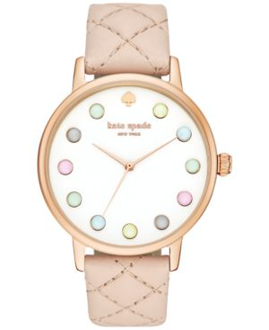 kate spade new york Women's Metro Grand Vachetta Leather Strap Watch 38mm...