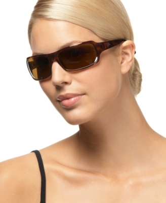 Ray-Ban Large Rectangular Wrap Sunglasses