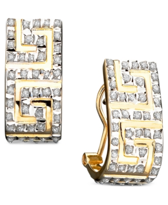 14k Gold Diamond Accent Earrings