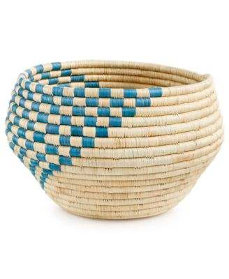 Rwanda Raffia and Sweet Grass Lalande Round Bowl