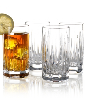 "Reed & Barton ""Soho"" Highball Glasses, Set of 4"