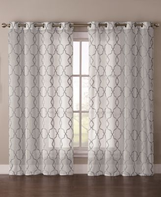 "Victoria Classics Stockton Embroidered 55"" x 84"" Sheer Grommet Panel"
