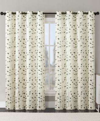 "Victoria Classics Jasmine Embroidered 54"" x 84"" Grommet Panel"