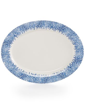 Martha Stewart Collection Porcelain Stockholm Oval Platter, Only at Macy's