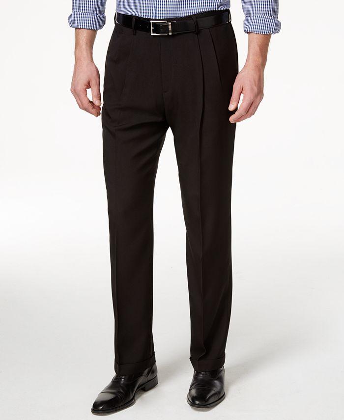 Haggar - Men's Classic-Fit ECLO Stria ECLO Dress Pants