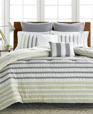Keita Seersucker 8-Pc Queen Comforter Set