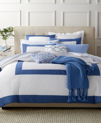 Charter Club Damask Designs Colorblocked Denim Full/Queen Duvet Set, Only at Macy's