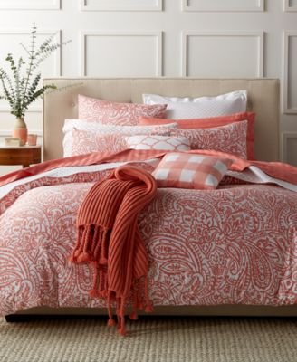 Charter Club Damask Designs Paisley Hibiscus King Comforter Set, Only at Macy's