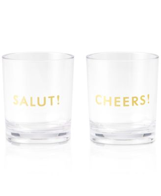 kate spade new york Raise a Glass Collection 2-Pc. Here's To You Salut!/Cheers! Tumblers Set