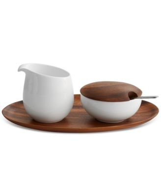 Namb® Skye Dinnerware Collection by Robin Levien 5-Pc. Lidded Sugar & Creamer Tray Set