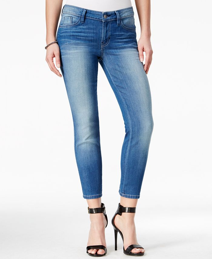 GUESS - Cropped Conway Wash Skinny Jeans