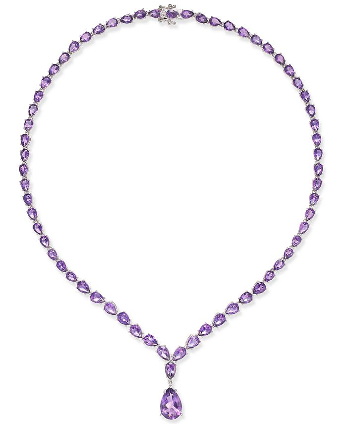 Macy's - Amethyst Statement Necklace (28 ct. t.w.) in Sterling Silver