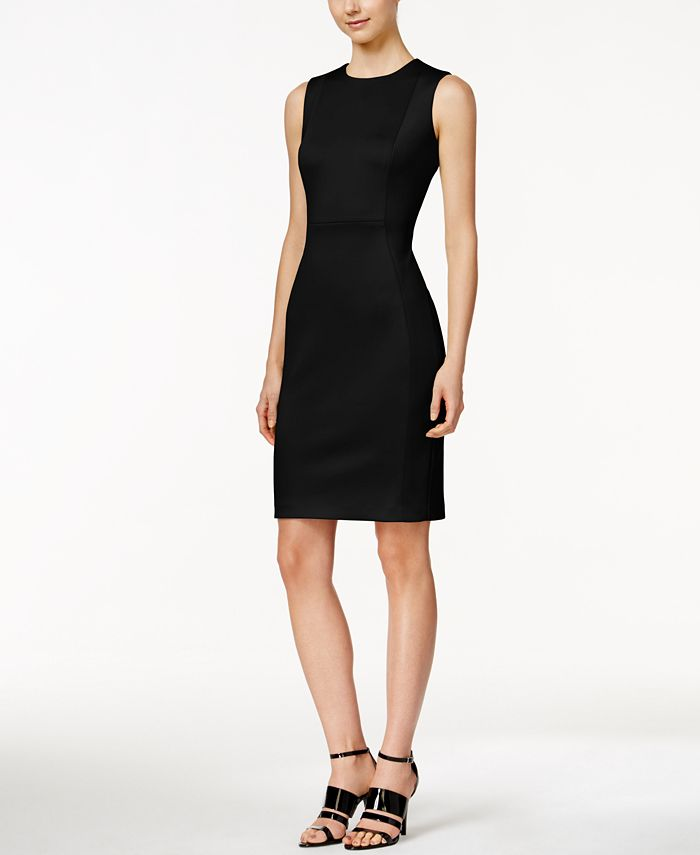 Calvin Klein - Sleeveless Scuba Sheath Dress