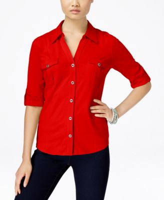 Image of Style & Co. Utility Shirt, Only at Macy's